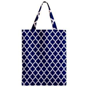 NWT - Navi Blue Lattice Tote Bag Geometric Printed